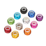Suleve™ M2AN1 10Pcs M2 Self-locking Nylon Nut Aluminum Alloy Multi-color
