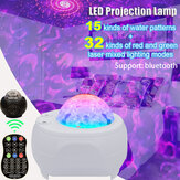 32 Mode Voice Control LED Starry Night Stage Light Sky Laser Projector USB Party Lamp +Remote Control
