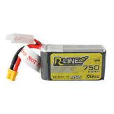 TATTU R-LINE 1.0 11.1V 750mAh 95C3SリポバッテリーXT30タイカン用プラグ25Eachine Lizard95FPVレーサー