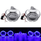 2Pcs Mini Car LED Projector Headlights Halo Ring Angel Eye Lights LHD Bi-Xenon HID Lamps 3000LM 3 Inch 12V 35W