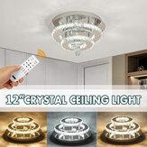 24W / 48W Люстра Crystal Stepless Dimming LED Круглый потолочный светильник Дистанционное Управление Светильник Декор AC100-240V