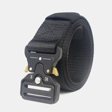 125cm 3.8cm Nylon Waist Leisure Belts Zinc Alloy Tactical Belt Inserting Buckle