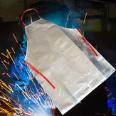 Heat Resistant Work Apron 1000℃ Aluminum Fabric Safety Apron High Temperature Working Thermal Radiation Aluminized Aprons