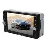 6.6 pouces écran tactile 2 din voiture fm radio sd tf mp5 stéréo lecteur bluetooth caméra