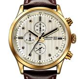 Pelle OCHSTIN GQ042B lusso Men Watch quarzo di modo sub-dail cinghie Sport Watch