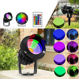10W RGB LED Flood Light Outdoor Garden Landscape Parete Percorso prato lampada