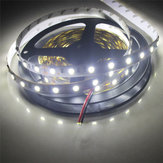 2PCS 5M SMD5050 300 LED Чистая белая непромокаемая гибкая ленточная лента Лампа DC12V