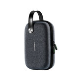 Ugreen Hard Drive Case Storage Box for USB Cable SD Card External Storage Carrying SSD HDD Bag Large Capacity Travel Organization Case