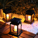 Solar Powered Hanging Lantern LED Solar Candle Lights Outdoor Decorative Path Light Lawn Light for Patio Landscape Tree Yard