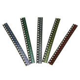 100 stuks 5 kleuren 20 elk 0603 LED-diode assortiment SMD LED diode kit groen / rood / wit / blauw / geel