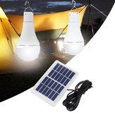 Portatile 7W solare Pannello USB ricaricabile campeggio Light 20 COB LED Lampadina lampada per emergenza esterna