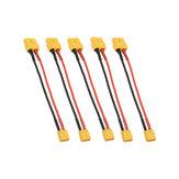5 Unids 10 cm 20AWG XT60 Hembra Enchufe a XT30 Adaptador de Cable de Enchufe Macho para Batería de Carga
