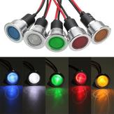 19 мм 12 В LED Панель Пилотный световой индикатор Контрольная лампа Авто Лодка Сигнал Лампа