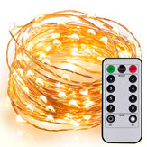 5M/10M/10M+Remote Control Lights String Copper Wire Lamp Battery Type LED Lantern Flashing Light Outdoor Waterproof Starry Decoration Light Christmas Tree Decoration Colored Light