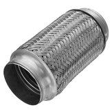 3x8 дюймов Гибкая трубчатая выхлопная труба из нержавеющей стали с двойной оплеткой для тяжелых условий эксплуатации Трубка