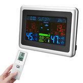 LCD اللاسلكية عرض رقمي الرطوبة أداة قياس درجة الحرارة محطة الطقس اللون شاشة