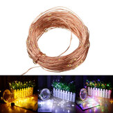 20M 200LED 2 Modes / 8 Modes Solar String Lights Waterproof Copper Wire Strip Fairy Garden Decor