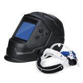Masque de soudage à obscurcissement automatique à assombrissement automatique du casque de soudage à grande visibilité 4 capteurs Arc de réglage externe Arc Tig Mig DIN5-DIN13