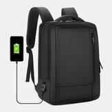 Hombres 15.6 Inch Mochila de negocios con carga USB Bolsa Mochila