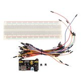 3pcs Geekcreit MB-102 MB102 Solderless Breadboard + القوة Supply + Jumper Cable Kits