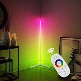 1.1 / 1.4 / 1.6M LED RGB kleur veranderende hoek vloerlamp met afstandsbediening meerkleurig