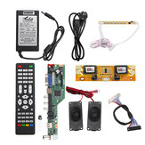 T.SK106A.03 T.SK105A.03 Universal LCD LED TV Controller Driver Board +7 Key button+2ch 8bit 40Pins LVDS Cable+4pcs Lamp Inverter+Speaker+EU Power Adapter