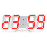 Luminous 3D Digital Clock Voice Control Wall Mounted LED Electronic Alarm With Temperature Checking