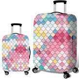 Honana Mermaid Embossment Style Elastico Copri bagagli Trolley Case Cover Durable Suitcase Protector per 18-32 Pollici Custodia Calda Accessori da viaggio