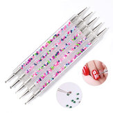 5pcs Nail Pen Dotting UV Gel Painting Manicure Tools