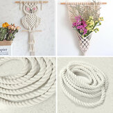 6mm Natural Cotton Cord Twine Braided Rope Cord Sash String Craft Macrame