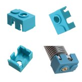Blue Hotend Silicone Case For V6 PT100 Aluminum Block 3D Printer Part