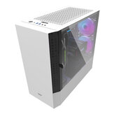 DarkFlash DLV22 Gaming Computer Case ATX/M-ATX/ITX Supported Rightside Door Opening Dust Proof Net White