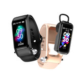 [bluetooth Call] Bakeey X4 bluetooth Headset Smart Watch Earphone Music Control Heart Rate Blood Pressure Oxygen Monitor Message Reminder Bracelet