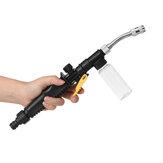 Limpiador de alta presión Pulverizador de agua Boquilla de chorro Limpiador de varillas con botella de espuma