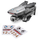 Shark Emoticon Sticker Set Waterbestendige Skins Decals Decoratief voor DJI Mavic 2 PRO / ZOOM RC Drone Quadcopter