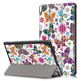 Tri-Fold Printing Tablet Case Cover voor Lenovo Tab E10 Tablet - Butterfly