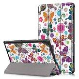 Funda para tableta de impresión tríptica Caso para Lenovo Tab E10 Tablet - Mariposa