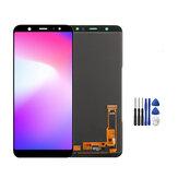 Pełny montaż No Dead Pixel Wyświetlacz LCD + Wymiana ekranu dotykowego Digitizer + Narzędzia naprawcze do Samsung Galaxy A6 + A6 Plus 2018 A605 A605F A605G