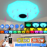 LED Panel Lamp Ceiling Light Remote Control APP RGB Bluetooth Music Smart Ceiling Light