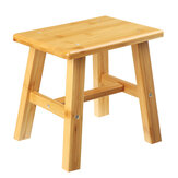 Wooden Square Stool Small Simple Children Chair Bamboo Dining Table Stool Household Bench for Home Living Room Bedroom