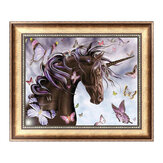 Horse Butterfly 5D Diamond Embroidery Painting Cross Stitch DIY Painting Tools Handmade Wall Decorations Gifts 30*40cm