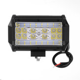 5 Inch Quad Row LED Work Light Flood Spot Combo Beam 84W 7000LM White for 9-32V Offroad Truck SUV