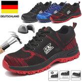 Zapatos de seguridad para hombre TENGOO, zapatos de trabajo con punta de acero, antideslizantes, transpirables, para correr, zapatillas de malla antideslizantes zapatos