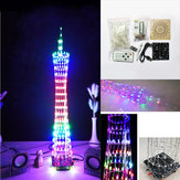 Zestaw DIY Bluetooth Canton Tower LED Light Cube Remote Control Music Spectrum Electronic Kit