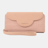 Women Faux Leather Alligator Pattern Large Capacity 6.3 Inch Phone Bag Clutch Bag Wallet