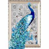 5D Diamond Embroidery Painting DIY Blue Peacock Stitch Craft Home Decor