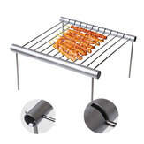 Portable Stainless Steel BBQ Grill Folding BBQ Grill Mini Pocket BBQ Grill Rack Barbecue Accessories For Home Park Use