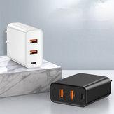 Caricatore rapido USB Baseus Speed Dual QC3.0 Caricatore U + U 30W EU per Samsung Xiaomi Huawei