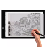 Gideatech A3/A4 LED Light Pad Tracing en continu Dimmable Luminosité Artcraft Light Table Diamond Drawing Pad USB avec échelle Calligraphie double face sans encre