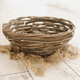New Thick Rattan Hand-woven Basket Personalized Photography Props for Newborns 40cm